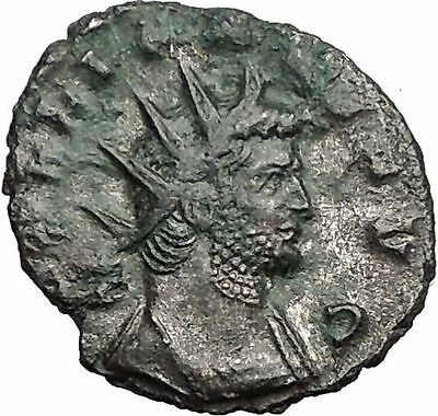 Gallienus Valerian I son 265AD Authentic Rare Ancient  Roman Coin  Mars i55899