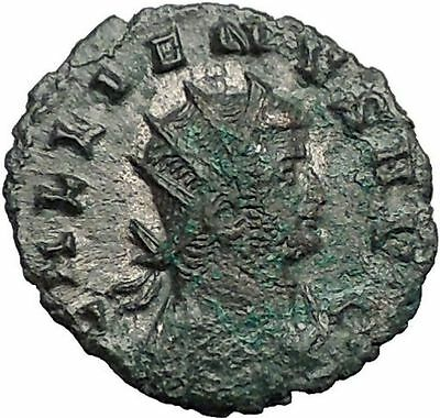 GALLIENUS Valerian I son 260AD Authentic Ancient Roman Coin Fortuna Luck i55904