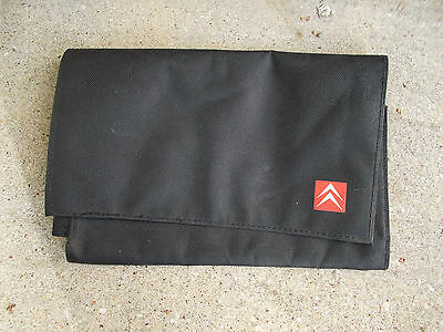 Citroen Black Fabric Wallet With Manufactuers Logo For Vehicle Documents Etc