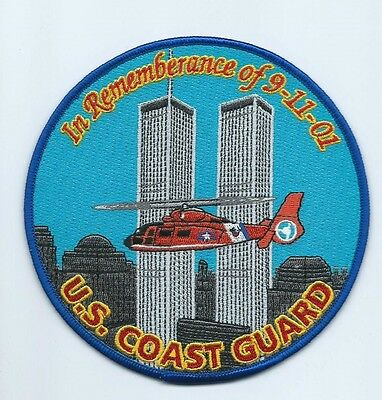 USCG United States Coast Guard Patch In rememberance of 9-11-01 helio left 5 in