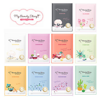 *BUY 5 GET 1 FREE* [MY BEAUTY DIARY] 2016 Natural Key Series Facial Mask 1pc NEW
