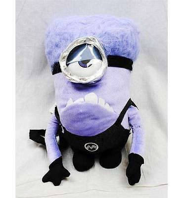 NWT Despicable Me 2 Evil Purple Minions Plush 14 Inch Backpack Doll Licensed