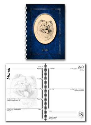 Chow Chow 2017 Large Dog Show Diary with Show Dates in a choice of 7 colours