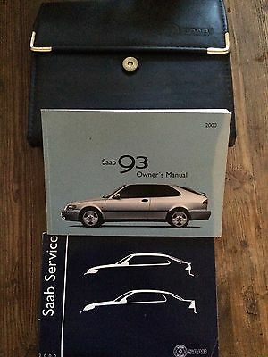 Saab 9-3 Owners Handbook Manual With Service Book & Wallet