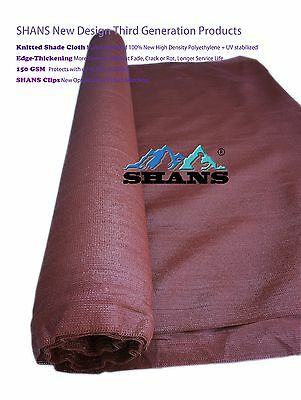 SHANS New Design Maroon 90% UV  Shade Cloth 12Ft By 10 Ft with Clips Free