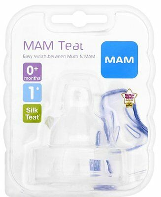 MAM SLOW Flow Teats 2-pack Free Next Day Delivery Baby Bottle Number 1 Stage New