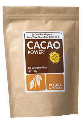 Power Super Foods Certified ORGANIC RAW CACAO POWDER 500g - The Mayan Superfood