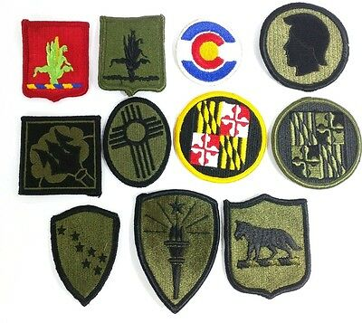 Collection / Lot of 11 NATIONAL GUARD STATE PATCHES