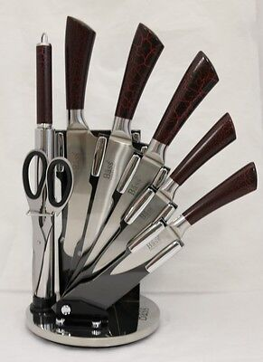 NEW 8 Piece BASS High Quality Stainless Steel Chef Kitchen Knife Set 22945