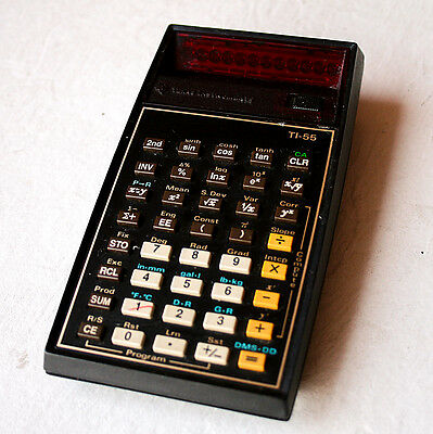 Vintage 1980 Texas Instruments TI-55 Scienfific Calculator LED Display