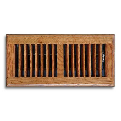 "NEW 6"" x 10"" Oak Wood Floor Diffuser Grille Register Vent Cover Heating AC HVAC"