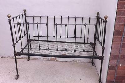 Childs cot Brass & Iron Victorian.