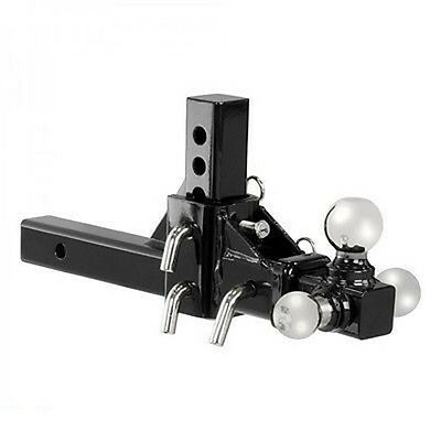 Adjustable Triple Spinning Towing Tow Bar Attachment Hitch Ball Drop Receiver