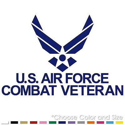 Us Air Force Combat Veteran Army Vinyl Decal Sticker (Af-08)