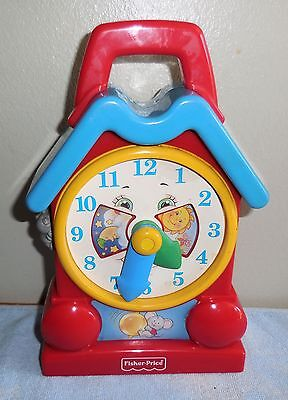 Fisher Price - 1994 Musical Wind-Up Grandfathers Clock w/ Moving Mouse #773 VGUC