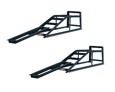 Pair of 2.5 Tone Car Ramps with Ramp Extensions Mates Low Entry Car Van CR25RM1