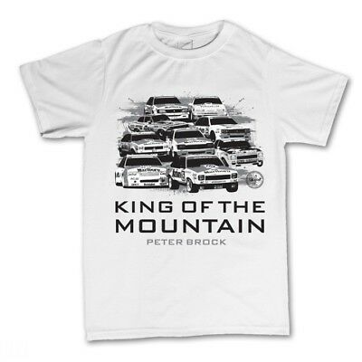 Peter Brock King Of The Mountain White T-Shirt - Bathurst Winners Print