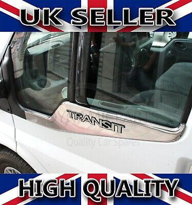 Ford Transit Mk7 Chrome Side Door Windows Sill Covers S.steel 2Pcs 2006-2013