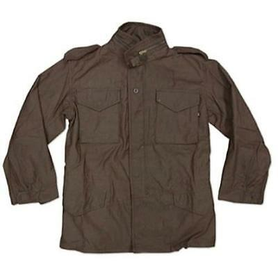 Alpha Industries M65 Field Jacket, Military Style, Brown. Made in USA