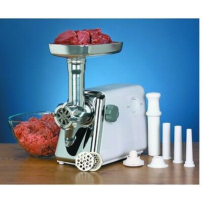 250Watts Electric Multi-Size Meat Grinder w/ Stainless Steel Blade & Accessories