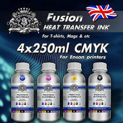 4x250ml Sublimation ink For Epson printers mugs tshirt heat press transfer