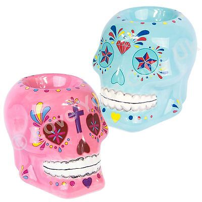 Day of the Dead Skull Oil Burner 10cm High Wax Granules