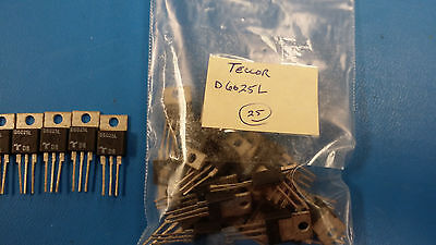 (5 PCS) D6025L TECCOR Diode Switching 600V 15.9A 3-Pin(3+Tab) TO-220AB Isolated
