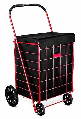 Grocery Folding Shopping Cart ''Liner'' Attaches Easily To Cart