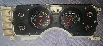 Full Instrument Cluster From 1986 Mustang GT Speedo Tach Charge Temp Oil & Fuel