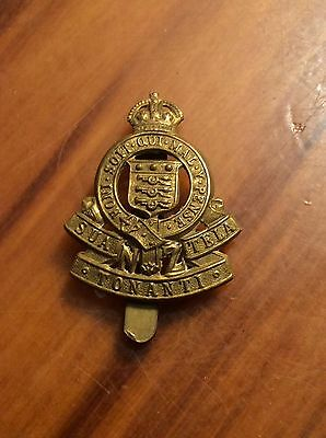 New Zealand Army Ordnance Corps Cap Badge King's Crown ANZAC WWII Pattern
