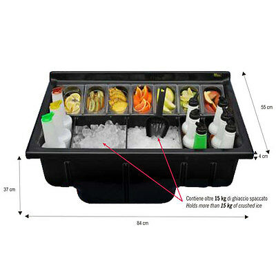 Station recessed black colour Insulated barman -bartending abs Csi85plb-plus