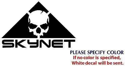 """Skynet With Skull Funny Game Nice Vinyl Sticker Decal Car Window bumper Wall 7"""""""