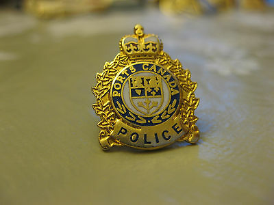 Canada Ports Police Pin Back