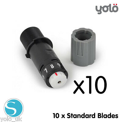 10 x Silhouette Replacement STANDARD BLADES for Cameo, Curio & Portrait Cutters