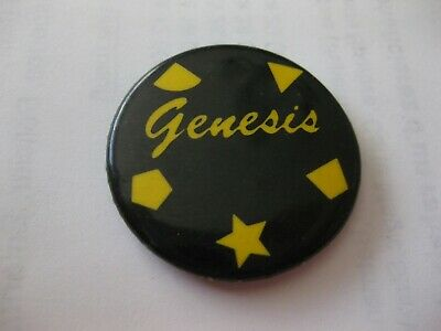 Rare Vintage Genesis Button Pin Condition New