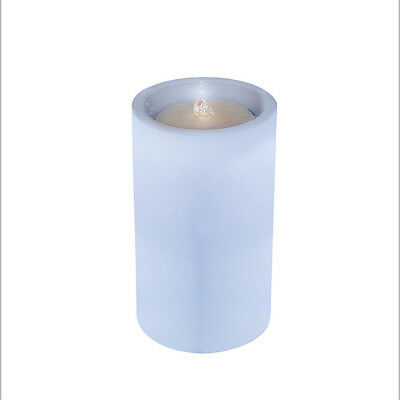 """AquaFlame LED LIGHT Candle flameless Fountain Light with Timer L Blue 5"""" x 8.5"""""""