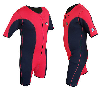 2Fit Sauna Sweat Suit Gym Boxing MMA UFC Weight Loss Slimming Shorts Red Unisex