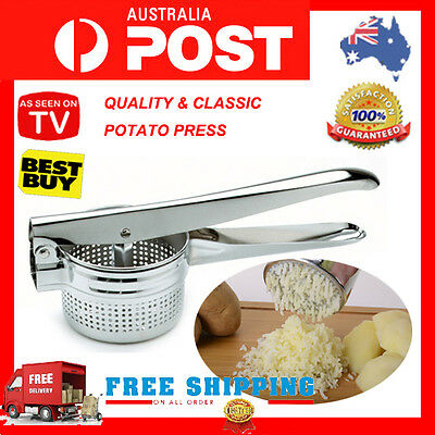 New Potato Ricer Masher Fruit Vegetable Puree Juicer Press Home Kitchen Cooking