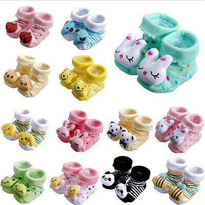 Hot Anti-Slip Socks Slipper Shoes Boots 0-12 Month Cartoon Newborn Baby Access