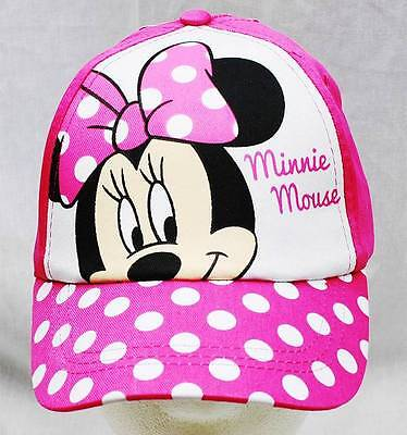 NWT Disney Minnie Mouse Baseball Cap Poka Dots-  Child Size Licensed by Disney
