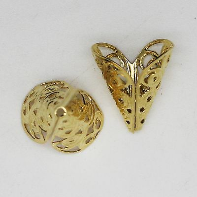 Filigree Cone Ends 40mm Goldtone Pack of 10