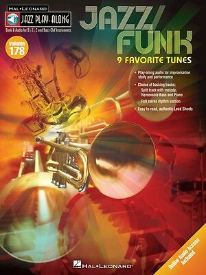 Jazz Funk Jazz Play Along Book and Audio NEW 000121902
