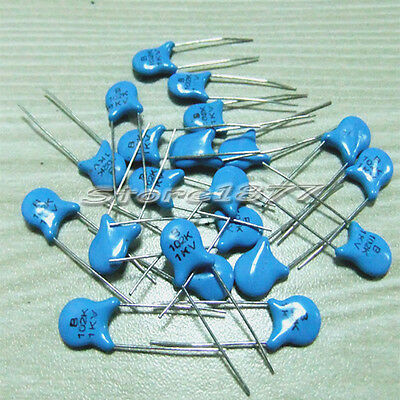 100pcs 1KV 1000pF High Voltage Ceramic Disc Capacitors