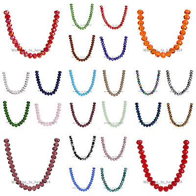 83Colors Faceted Rondelle Crystal Glass #5040 Loose 10mm Spacer Beads 20-100pcs