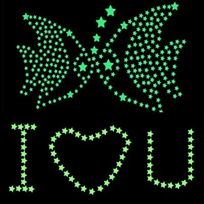 100pcs Luminous Star Wall Stickers Home Room Decor Glow In The Dark Decal Modern