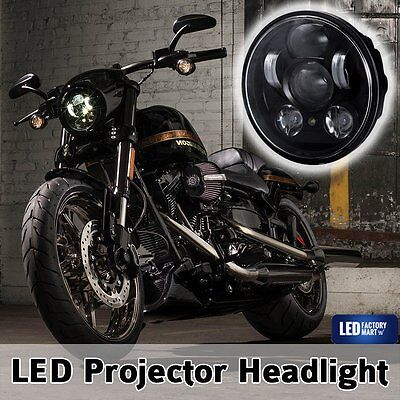 "Cree 5.75"" 5 3/4 LED Headlight Daymaker Black Projector DRL For Harley Davidson"