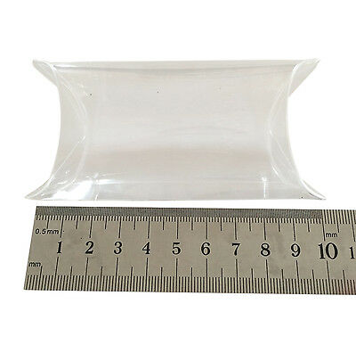 Clear Plastic Pillow shaped gift box 8x5x3cm, Pack 100