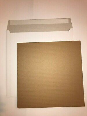 "100 12"" Lp White Record Mailers +150 Stiffeners +Free24H"