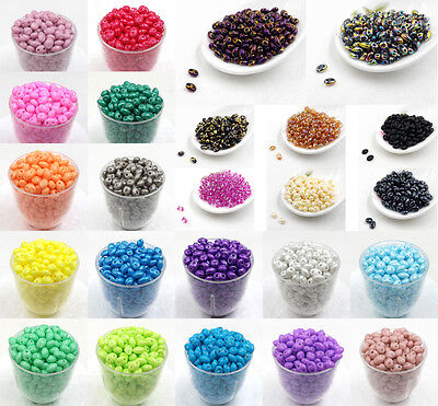 DIY 5x2.5mm Czech Glass Seed Beads Two Hole bead Duo beads 50/100/240pcs