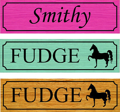 Horse stable door personalised name plaque/sign in foamex